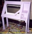 custom drafting table/light table designed 